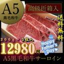 父の日 【 A5ランク 黒毛和牛 】 サーロインステーキ セット [3枚:600g] 《 送料無料 ...