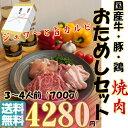 ジュワ〜と旨 カルビ + 国産 豚肉 鳥肉 『お試し』 焼