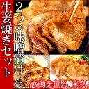 2つの味噌漬けと生姜焼きセット 豚肉 豚ロース肉 味噌漬け 生姜焼き しょうが焼き 詰