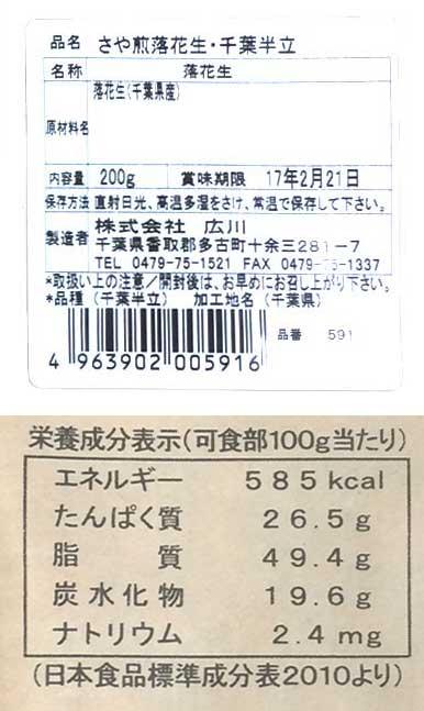 さや煎り落花生千葉半立<広川商店>の紹介画像3