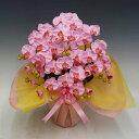 【光触媒】【造花】胡蝶蘭 ミディ Sサイズ ピンク 5本立ち【送料無料】テーブルサイズ