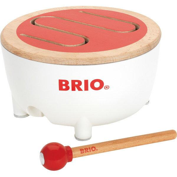 送料無料出産祝いギフトブリオドラム30181おもちゃ音太鼓たいこドラムスティック付きBRIOおもちゃ