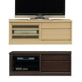 【12/12までP10倍】 薄型テレビボード スライス 120 ナチュラル色 ダーク色 【家具のよろこび】