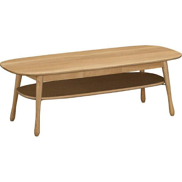 【P10倍】 カリモク 棚付きリビングテーブル TF4210E000 幅120 オーク材 送料無料 【家具のよろこび】 【お買い物マラソン】 小さなお子さんも安心な 角丸タイプ 資源を有効活用する 積層天板