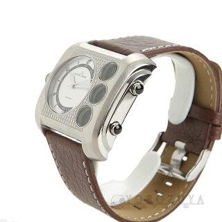 JACQUES LEMANS ジャックルマン 腕時計 1-1780B SS/革ベルト ホワイト クォーツ メンズ 【新品】