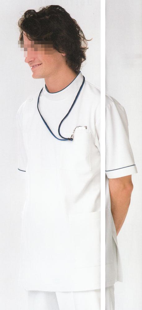 白衣 裏綿ニット素材を使用/男性ドクターケーシー白衣上衣HO1962【】