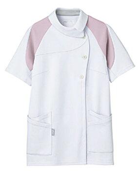 【送料無料】アシックス[4D]カッティング/レディスジャケット半袖/ホワイト×ピンク