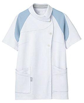 【送料無料】アシックス[4D]カッティング/レディスジャケット半袖/ホワイト×ブルー(写真右)