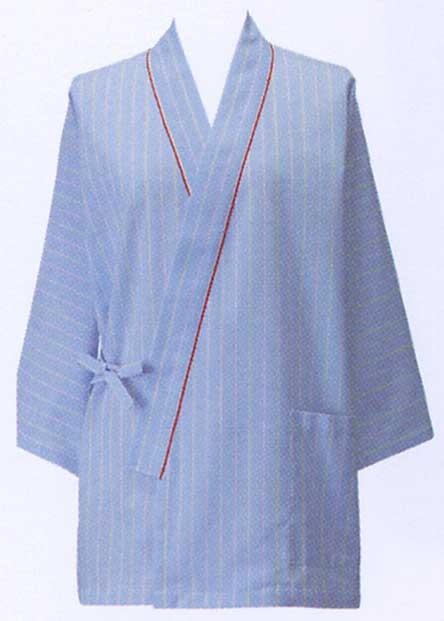 患者衣上衣(甚平型)/ブルーストライプ285-98【】...:yoshiiya:10002289