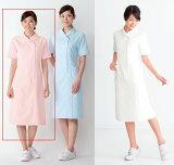 女性用、ナースワンピース白衣半袖/ピンク