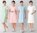 白衣 女性用、フェミニンな衿元が好印象/ナースワンピース白衣半袖4色003-2【】
