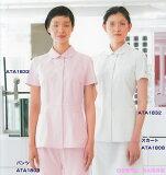 【】アツロウ タヤマ // 女性用、ラウンドカラー白衣 上衣