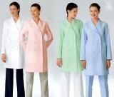 プリンセスライン&優しい衿の薬局衣ドクターコート/女性用ダブル型白衣