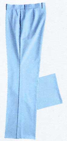 【ラッキーシール対応】白衣 ニット素材だからお手入れ簡単男性用スラックス(裏付)サックス259-11【】