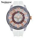 テンデンス Tendence 腕時計 King Dome ホワイト文字盤 TY023003 メンズ 【正規輸入品】3年保証【ルーレット部分がくるくる回転します】...