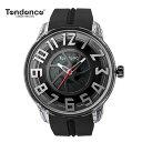 (あす楽)テンデンス Tendence 腕時計 King Dome ブラック文字盤 TY023001 メンズ 【正規輸入品】3年保証【文字盤中央ホイール部分がくるくる回転します】【送料無料】【楽ギフ_包装】