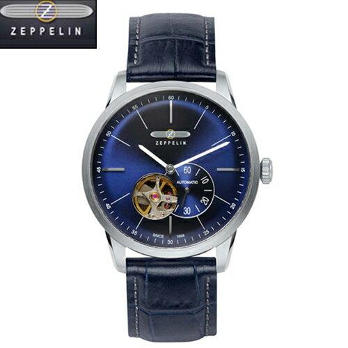 正規品 ツェッペリン 腕時計 Flat Line  フラットライン ネイビーレザーストラップ 7364-3 メンズ (自動巻)  【ツェッペリン 時計】ツェッペリン 73643