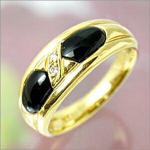 【限定1本】K18 オニキス(黒めのう)・ダイヤモンドリング  FR-376【送料無料】【ギフト】【包装】【ホワイトデイ】02P03Mar18