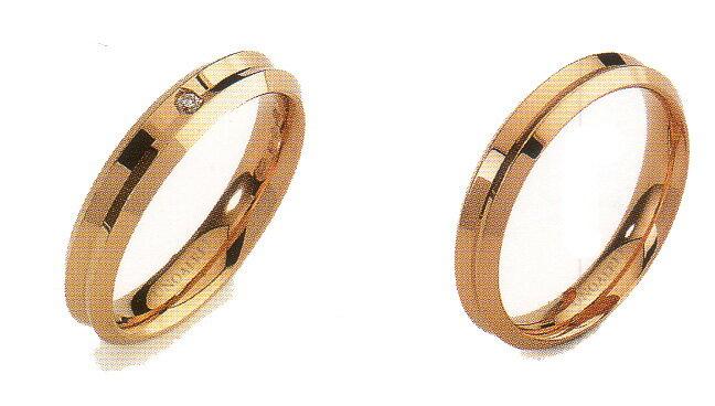 """ウノアエレ結婚リング K18 ウノアエレ 結婚リング """"CORONA02-03"""" (コロナ) ペアリング  2本分 ウノアエレ高い技術力で世界のゴールドジュエリーをリードしています。216,300"""