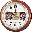 セイコー 掛け時計 電波カラクリ時計 RE559H 【送料無料】¥38,880-