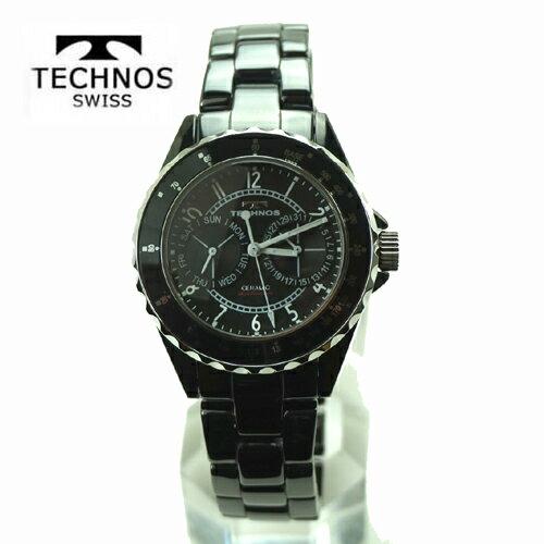 () テクノス 腕時計 (TECHNOS)  メンズ ホワイトセラミックベルト付 T9548TB 2017新作モデル  【RCP】【半額】【05P04Mar17】【送料無料】 絶大な支持を受けているブランド、「テクノス」。プレゼントやギフトにもオススメです。