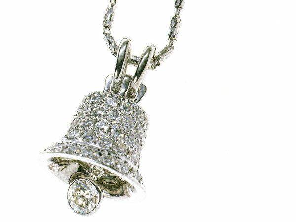 ラザールダイヤモンド リバティベルモチーフネックレス