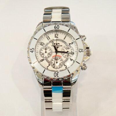 (あす楽)テクノス 腕時計 (TECHNOS) T3032TW セラミックベルト付 メンズ【楽ギフ_包装】【送料無料】【RCP】【半額】02P05Nov16