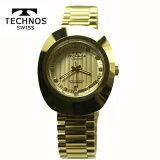 テクノス(TECHNOS) 腕時計 3気圧防水 T9475GC シャンペン・ゴールド文字板 タングステンケース【RCP】【最安値挑戦】【送料無料】【楽ギフ_包装】05P03Dec16
