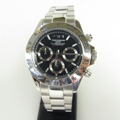 テクノス(TECHNOS)腕時計 クロノグラフ 10気圧防水TSM401SB【旧品番TGM615SB】【RCP】【楽ギフ_包装】02P04Sep18