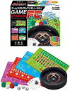 【新品】ゲームスタジアムファミリーカジノGAMESTADUUMFC ハナヤマ 5種類のゲーム(ルーレット バカラ ブラックジャック ビックアンドスモール ポーカー)ガイド付きマットでルールがわかる