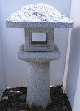 日本のこころ庭園づくりにいかがでしょう白御影石 白水蛍灯篭3尺(100kg)