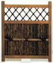 【送料無料】Y-108黒竹張り木戸2.5x4尺/庭木戸/扉/ドア/天然竹/玄関/引き戸/庭/ガーデン/エクステリア/ガーデニング