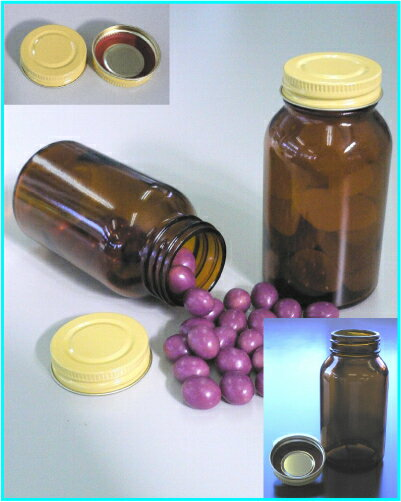 ガラス規格瓶 茶No-12K 容量OF173.0mlの商品画像