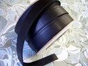 本革持ち手(太) 黒 25mm巾 レザー バッグ材料 ベルト ショルダー