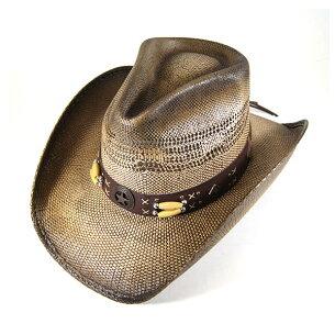 ブルハイド ウエスタン ストローハット デスペラード レディース 麦わら帽子