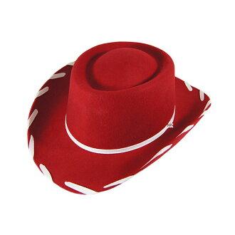 #980015 M & F (em 和 EV) 孩子西方帽子孩子兒童男孩女孩西方帽子帽子帽牛仔帽女牛仔羊毛羊毛服裝化裝玩具故事傑西玩具總動員服裝萬聖節 M L 紅 10P05Dec15