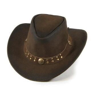 #900005-鎖山 (Rockmount) 與康喬皮革 (帶線) 西方帽子牛仔帽 fedora 帽子男士女士皮革皮革女牛仔鑲嵌大尺寸駱駝棕色棕色 M L XL 2852 布朗/BIK 10P09Jan16