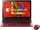 【ポイント5倍】東芝 ノートパソコン dynabook T654 T654/68KR PT65468KBXR [モデナレッド] [液晶サイズ:15.6インチ CPU:Core i7 4700MQ(Haswell)/2.4GHz/4コア HDD容量:1000GB メモリ容量:8GB OS:Windows 8.1 64bit]
