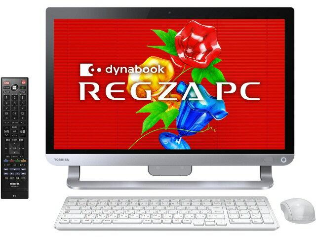 【ポイント5倍】東芝 デスクトップパソコン REGZA PC D81 D81/T9MW PD81-T9MHXW [リュクスホワイト...
