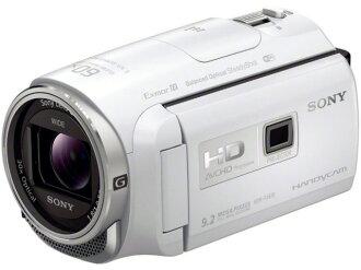 索尼攝像機HDR-PJ670(W)[白][類型:不利條件照相機高清晰對應:全高清攝影時間:150分本體重量:325g攝像元件:CMOS 1/5.8型動畫有效像素數:]229萬像素]