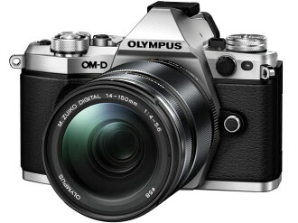 【The 點 5 倍奧林巴斯數碼單反相機奧林巴斯 OM-D e-M5 標記 II 14 150 毫米 II 鏡頭工具組 [銀] [類型︰ 無反光鏡圖元數︰ 17200000 10,000 圖元 (總圖元) / 1605年 (有效圖元) 的圖元 CCD 圖像感應器︰ 4/3-4/3 LiveMOS 連續拍攝︰ 10 幀 / s 重量︰ 417 g]