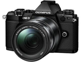 奧林巴斯數碼單反相機奧林巴斯 OM D E M 5 Mark II 14 150 毫米鏡頭套件二 [黑色] [類型: 無反光鏡圖元數: 17200000 10,000 圖元 (總圖元) / 1605年 (有效圖元) 的圖元 CCD 圖像感應器: 4/3-4/3 LiveMOS 連續拍攝: 10 幀 / s 重量: 417 g]