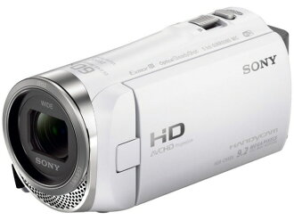 索尼攝像機HDR-CX485(W)[白][類型:不利條件照相機高清晰對應:全高清攝影時間:155分本體重量:195g攝像元件:CMOS 1/5.8型動畫有效像素數:]229萬像素]