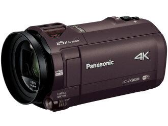 松下攝像機 HC-VX980M-T [棕色] [類型︰ 手持攝像機拍攝時間︰ 100 分鐘重量︰ 352 g 電影元素︰ MOS 1/2.3 型視頻有效圖元︰ 8290000 繪畫大]