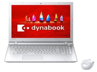 東芝筆記本電腦 dynabook T75/大眾 PT75VWP: BJA T75 [豪華白色] [LCD 尺寸︰ 15。 6 英寸 CPU:Core i7 6500U (天湖) /2.5GHz/2 核心 CPU 得分︰ 4334 硬碟容量︰ 1000 GB 的記憶體容量︰ 8 GB 作業系統︰ Windows 10 家 64 位]