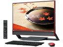 NEC デスクトップパソコン LAVIE Desk All-in-one DA770/FAR PC-DA770FAR クランベリーレッド 画面サイズ:23.8インチ CPU種類:Core i7 6500U(Skylake) メモリ容量:8GB ストレージ容量:HDD:3TB OS:Windows 10 Home 64bit