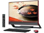 【ポイント5倍】NEC デスクトップパソコン LAVIE Desk All-in-one DA770/FAR PC-DA770FAR [クランベリーレッド] [画面サイズ:23.8インチ CPU種類:Core i7 6500U(Skylake) メモリ容量:8GB ストレージ容量:HDD:3TB OS:Windows 10 Home 64bit]