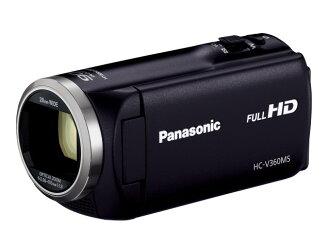 松下攝像機HC-V360MS-K[黑色][類型:不利條件照相機高清晰對應:全高清攝影時間:115分本體重量:213g攝像元件:MOS 1/2.3型動畫有效像素數:]220萬像素]