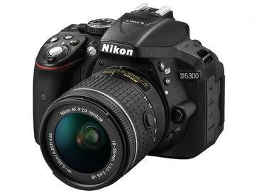 【ポイント5倍】ニコン デジタル一眼カメラ D5300 AF-P 18-55 VR キット [タイプ:一眼レフ 画素数:2478万画素(総画素)/2416万画素(有効画素) 撮像素子:APS-C/23.5mm×15.6mm/CMOS 連写撮影:5コマ/秒 重量:480g]