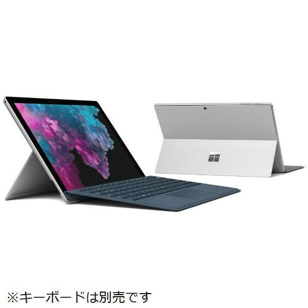 【ポイント5倍】マイクロソフト タブレットPC(端末)・PDA Surface Pro 6 KJT-00014 [プラチナ] 【キーボード無し】 [OS種類:Windows 10 Home(April 2018 Update 適用済み) 画面サイズ:12.3インチ CPU:Core i5 8250U/1.6GHz 記憶容量:256GB]